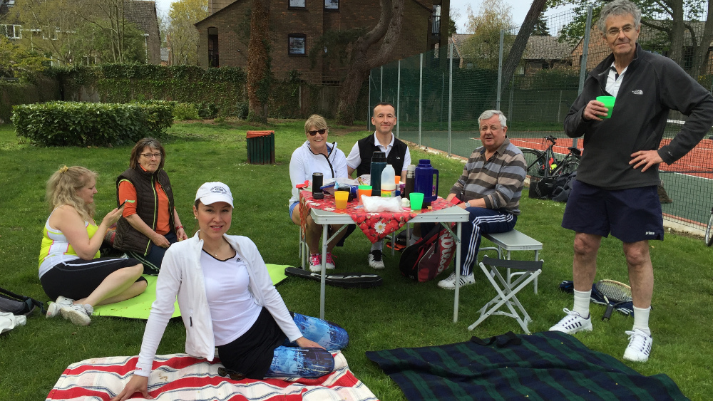 An early season tea and tennis session