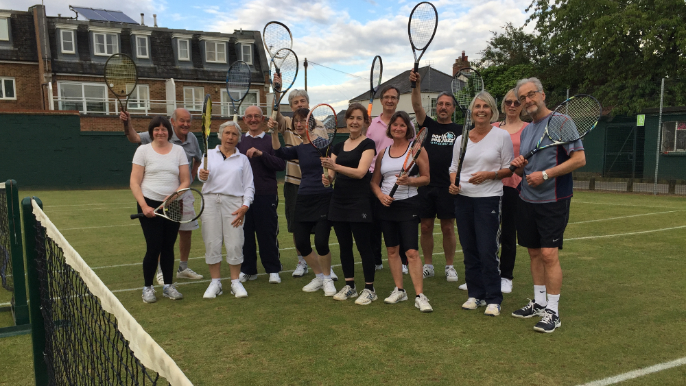 Rackets raised to welcome our first grass club session of the summer season...