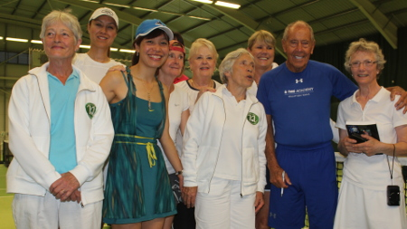 Mr Bollettieri, seven wives already but also checking out the Norham Ladies