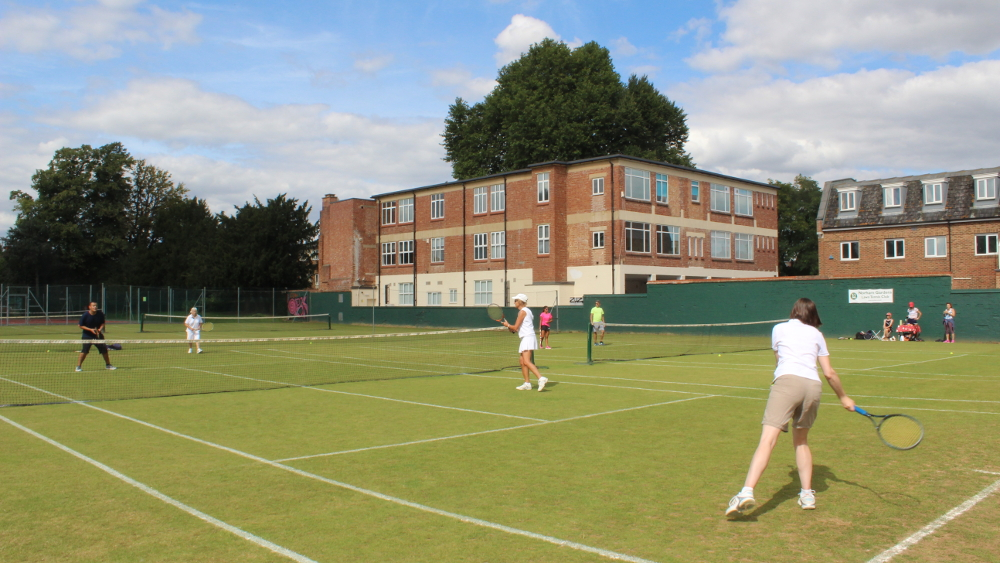 Just the thing for a sunny summer day - an afternoon of lawn tennis
