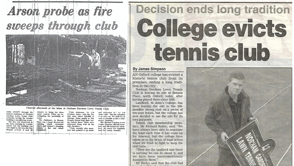 "How did we get here? An epic saga of All-England tournaments, arson, Henman and eviction. <br>For a history of Norham Gardens <a href=""http://norham.org.uk/about_ng/history"">please click HERE</a>"
